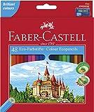 Faber-Castell 120148 - Eco Buntstifte, 48er Kartonetui inklusive Spitzer
