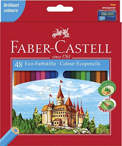 faber-castell-120148-castle-crayons-de-couleur-hexagonal-eco-etui-de-48