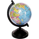 R RAYVIN STAR Premium Universal Globe || Table Top Political World Globe ||With Time Scale || Scratch Proof Surface || Ideal For Children || For Office|| For School || 5 Inch || Rotating Globe || G-04