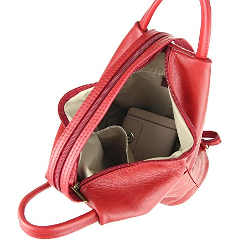 bb78161bb2789 ... OBC Made in Italy Damen echt Leder Rucksack Lederrucksack Tasche  Schultertasche Ledertasche Daypack Backpack Handtasche Nappaleder