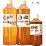 Indicwisdom Safflower Oil,Groundnut Oil,Sesame Oil (Combo)