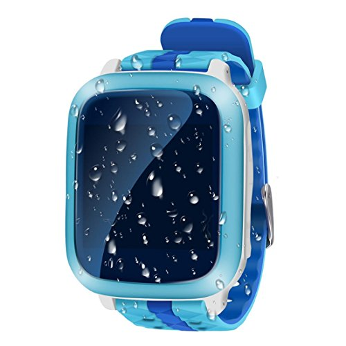 Preisvergleich Produktbild Leydee Smart Watch Anti-Drop Wasserdichtes Kind Smartwatch Telefon mit 1,44 Zoll Bildschirm Babyuhr SIM Karte SOS Anruf GPS Tracker Anti-verlorener Monitor für Kinder , blue