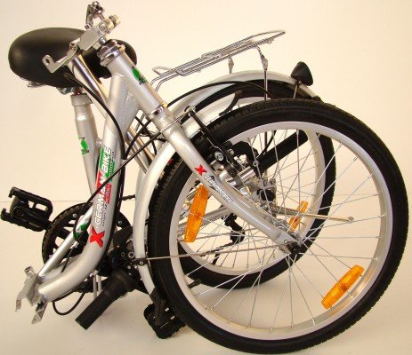 5136eOmOoKL - GermanXia Comfort Folding Bike 20 Inch 1-Speed with Backpedal Brakes
