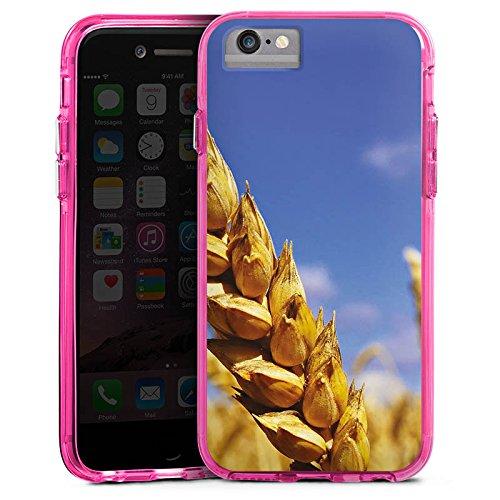 Apple iPhone 6s Bumper Hülle Bumper Case Glitzer Hülle Landschaft Kornfeld Korn Bumper Case transparent pink