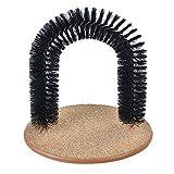 Arco de rascador para gatos – Aolvo para el pelo, arco para el pelo, ayuda a las pelotas de pelo privadas, juego de gatos y masajeador para mascotas y gatos