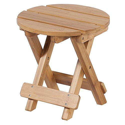 TMY Taburete de madera maciza Taburete de bambú, sala de estar simple Taburete de pesca taburete Taburete de zapato Silla plegable de taburete ( Color : A-25*25*25CM )