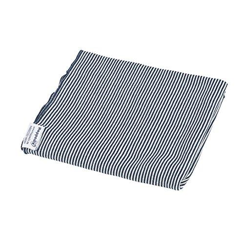Hoppediz Pucktuch gestreift 90x90cm blau-weiß