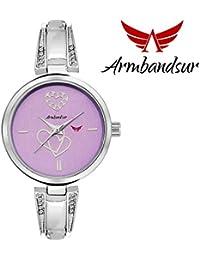 Armbandsur silver case purple dial watch-ABS0044GPS