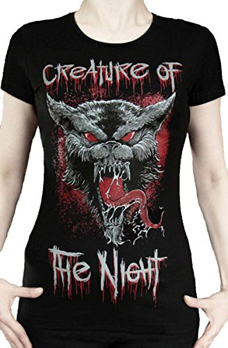 Dark Dreams Gothic Batcave Bat Lady Shirt T-Shirt Werwolf Wolf, (Shirt Kostüm Werwolf)