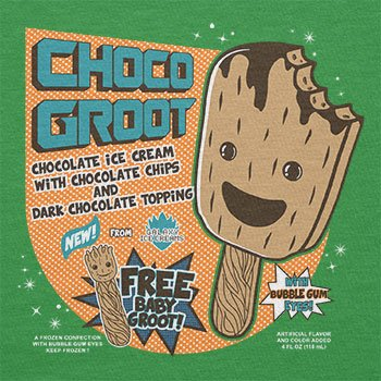 Texlab – Choco Groot Ice Cream – sacchetto di stoffa Verde