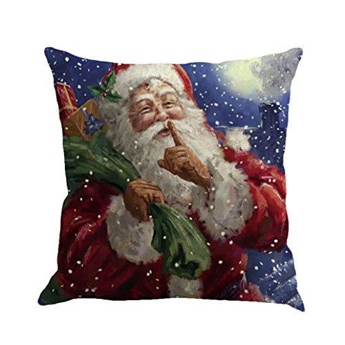 achtsdekoration Weihnachtsmann Druck Färben Sofa Bett Home Decor Kissenbezug (I) (Halloween-farbe Blatt)