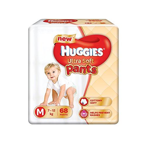 Huggies Ultra Soft Pants Medium Size Premium Diapers (68 Counts)