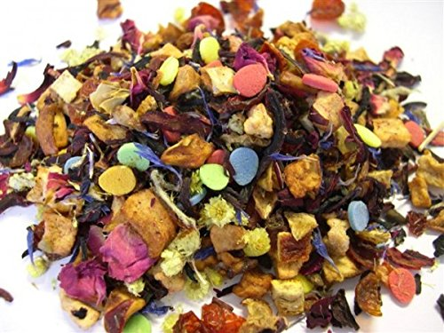 Tee-im-Glas-Frchtetee-zu-Ostern-Ostertee-mit-Zucker-Ostereiern-in-einer-Weck-Flasche-100-g-Tee