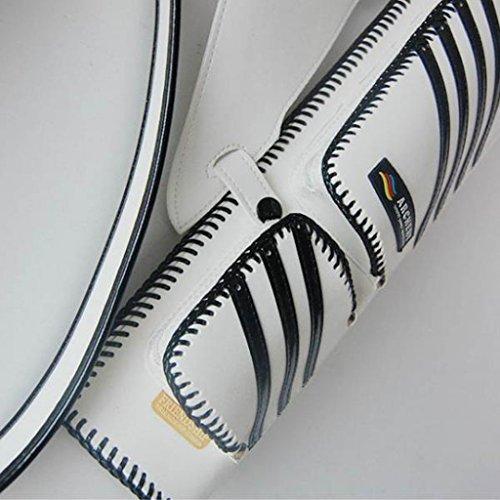 Generic Pfeile Köcher aus Kunstleder, mit verstellbarem Tragegurt, elegantes Design Schwarz + Weiß