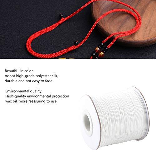 Imagen de pulsera cuerda, abalorios cuerda de rosca poliéster macramé cordón trenzado para el collar de la pulsera fabricación de joyas llavero cordón cuerda 0.5mm ivory white  alternativa