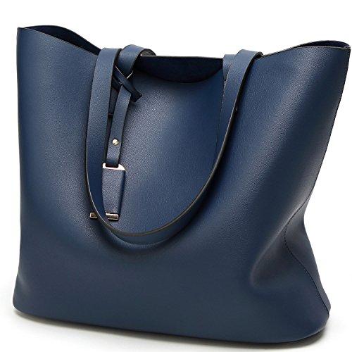 dtasche Ledertasche Shopper Tasche für Damen Handtasche große Beiläufig Blau (Damen-guess Jeans-größe 32)