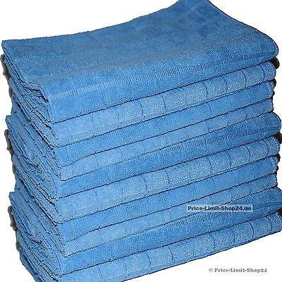 Price-Limit-Shop24 10 Microfaser Tücher Tuch Bodentuch Mikrofaser Poliertuch 50 x 60 cm Blau