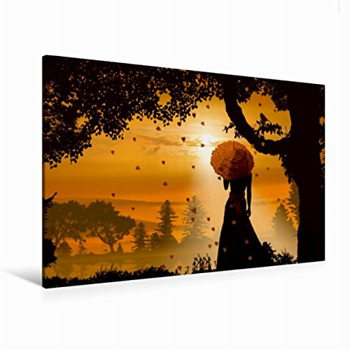 Premium Textil-Leinwand 120 cm x 80 cm quer, Im romantischen Abendlicht | Wandbild, Bild auf Keilrahmen, Fertigbild auf echter Leinwand, Leinwanddruck (CALVENDO Menschen)