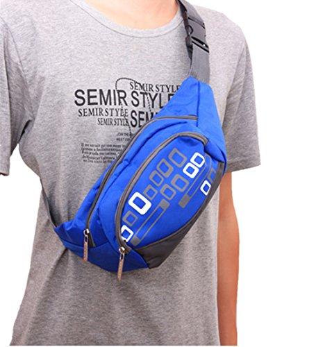 Life-time Unisex Multifunktionale Wasserdichte Taille Tasche zum Joggen, Wandern, Klettern, Radfahren Blau