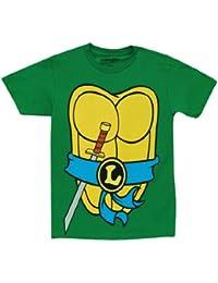 Mighty Fine TMNT Teenage Mutant Ninja Turtles Leonardo Costume Green T-shirt ...
