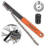 Oumers Juego de herramientas de cadena de bicicleta,Látigo y cadena Látigo con cassette/bicicleta Volante Chain Sprocket Remover Tool Pack