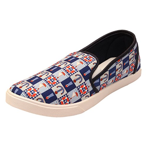 Frestol's Stylish & Comfort Look Blue Loafer Shoes For Men's