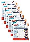 6er SparPack tesa Deckenhaken mit Powerstrips, selbstklebend, wieder ablösbar, bis 0,5kg (6)