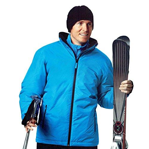 Herren Skijacke Snowboardjacke Jacke wind und wasserdicht Ski Blau Öko-Tex