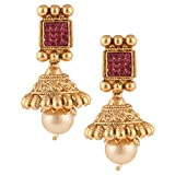 Dancing Girl Rani Metal Jhumka Earrings ...