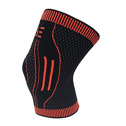RAISE Knieschoner, Kniebandage zum Laufen, Joggen, Sport, Gelenkschmerzlinderung, Arthritis und Verletzungsgenesung-einlagig (L)