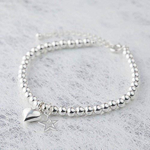 Silver Color Beads Bracelet (6 m...