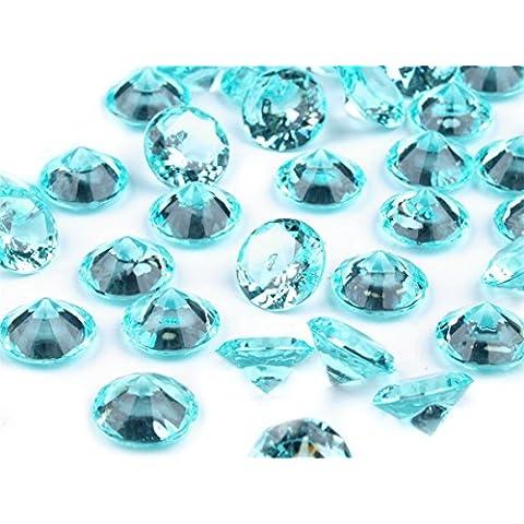 Piedras decorativas muchos colores/tamaños, decoración, mesa Decorar, boda, diamantes, cristal, plástico, turquesa, 10 mm