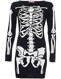 ® Style Divaa Robe Bodycon pour femme Imprimé squelette