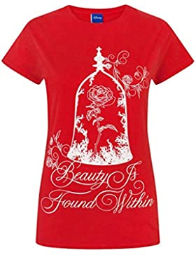 Beauty And The Beast Disney Enchanted Rose Women's T-Shirt