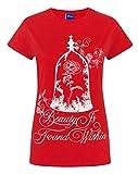 Disney Beauty And The Beast Enchanted Rose Women's T-Shirt (M)