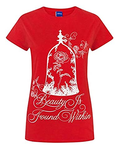 Disney Beauty And The Beast Enchanted Rose Women's T-Shirt (L)