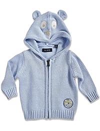 BLUE SEVEN Baby Jungen Strickjacke mit Kapuze PLAYTIME 462001 in blau