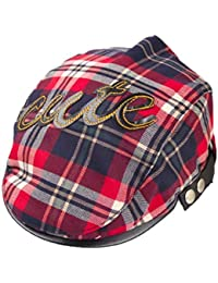 9fabfaf86f610 Voberry Baby-Boys Boy Toddler Plaid Beret Cabbie Flat Peaked Hat River Cap