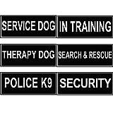 FidgetGear Reflektierendes Etikett für Hundegeschirr Service Therapie Training