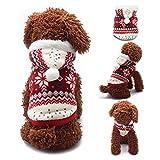 aaa226Pet Hund Kleidung weich Schneeflocke Winter Warm Kostüm Jacke Hoodie Mantel
