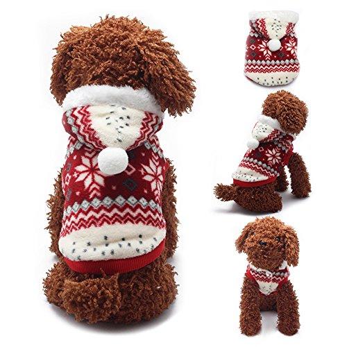 aaa226Pet Hund Kleidung weich Schneeflocke Winter Warm Kostüm Jacke Hoodie (Kostüm Muster Schneeflocke)