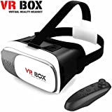 Sonic Audio® VR Box 2.0–Gafas de realidad virtual 3D, cascos/auriculares/gafas para iPhone/Samsung/Smartphones, incluye mando Bluetooth 3.0para juegos