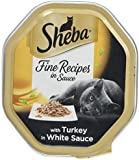 Sheba Cat Food Tray Fine Recipes in Sauce with Turkey in White Sauce 85 g - Pack of 18