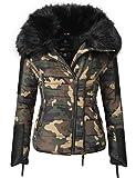 Navahoo Damen Jacke Winterjacke Steppjacke Yuki2 (vegan hergestellt) Camouflage Gr. XL