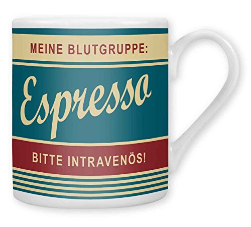 """Preisvergleich Produktbild GRUSS&CO 43341 Espressotasse """"Blutgruppe"""""""