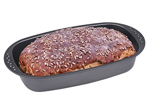 chg 3444-03 Brotbackform, antihaftbeschichtet, anthrazit / metallic, 37 x 20 x 7 cm