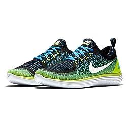 Nike Herren Free RN Distance 2 Laufschuhe Mehrfarbig (Chlorine Blue/Electro Green/Black/White) 43 EU