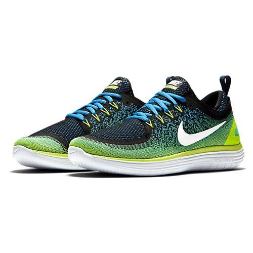 Nike Free Rn Distance 2, Running Homme Multicolore (Chlorine Blue/electro Green/black/white)
