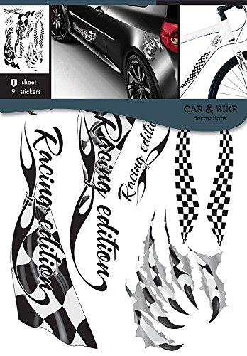 Pegatinas con diseño de banderas de carreras, ideal bicicletas