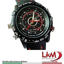 LKM Security AC-V64 Orologio Spia con Telecamera Nascosta in HD, Nero, Moderno
